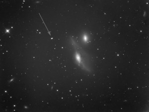 AT10RC Test Image at WSP - NGC 4438, Binned 2x2 - Asteroid Princetonia Indicated
