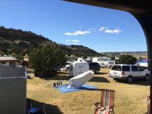 View of my Neighbor's Telescope and the Mesas at OkieTex 2015